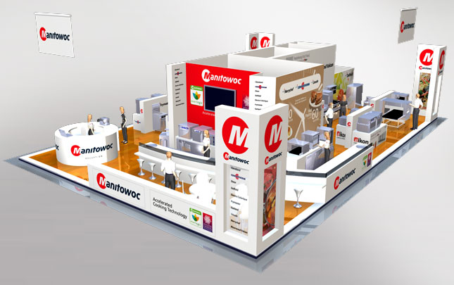 Manitowoc 3D Reverse Expo stand