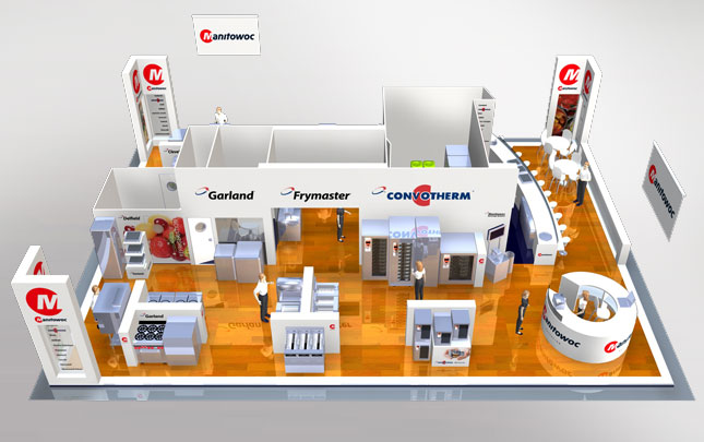 Manitowoc 3D Over Head Expo stand