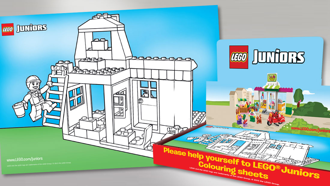 LEGO Juniors Packaging & Colouring Sheet