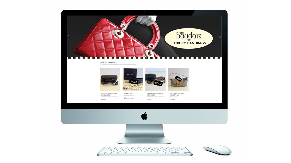 My Boudoir Website on Imac