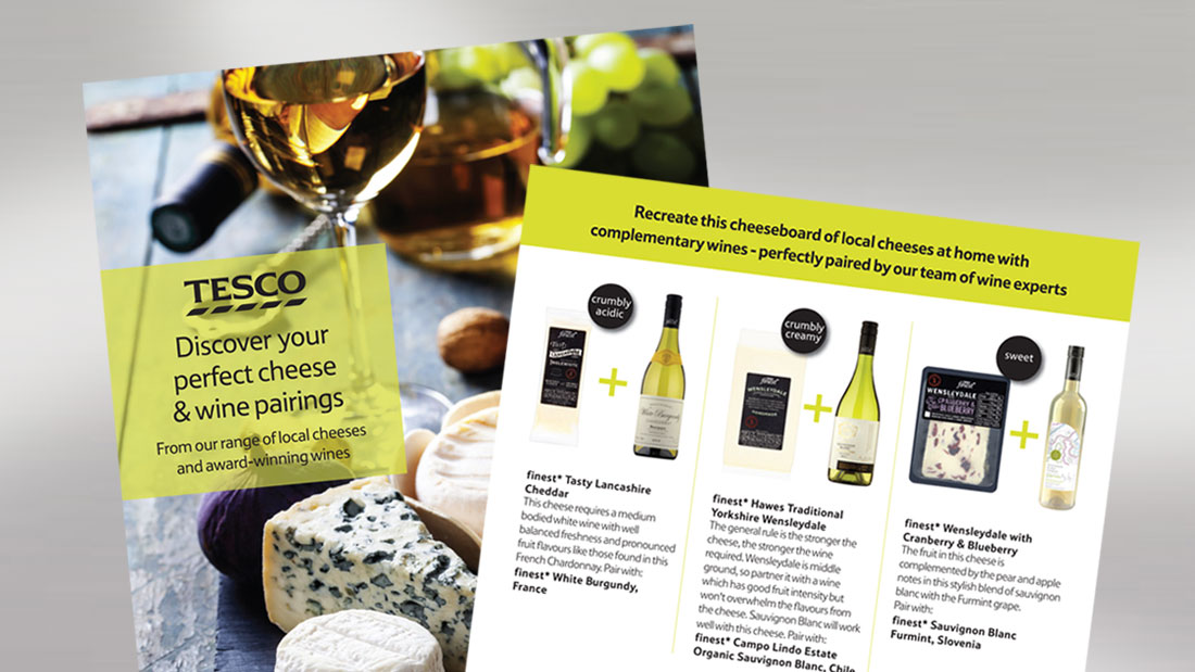 Tesco Cheese & Wine Leaflet