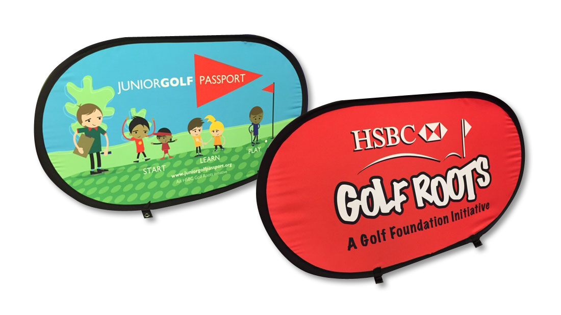 Golf Foundation Oval Pop Up Banners