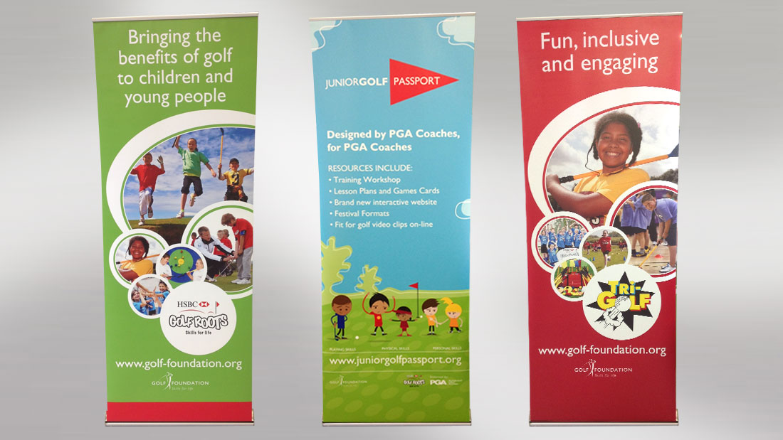 Golf Foundation Pull Up Banners