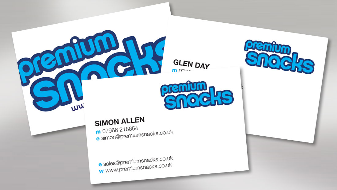 Premium Snacks Business Cards