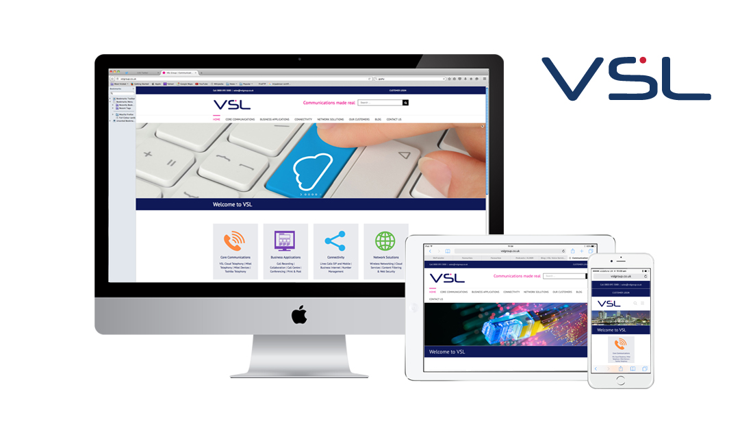 VSL Group responsive website