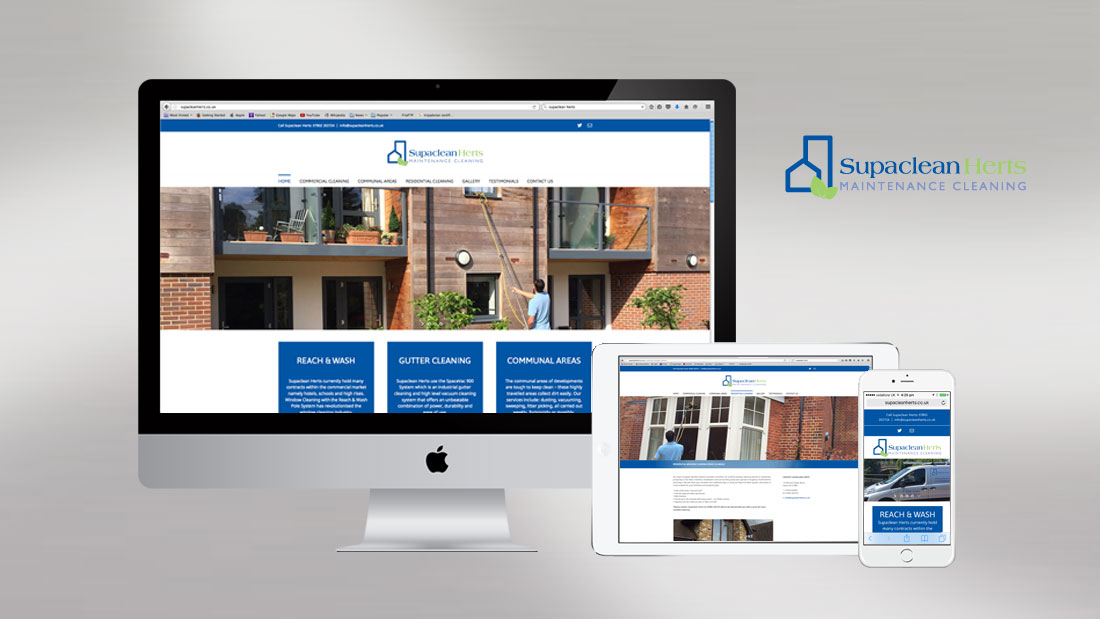 Website for Supaclean Herts